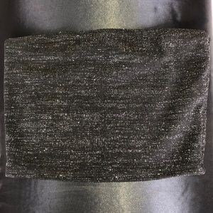 💖3/$15 Forever 21 Black & Silver Sparkle Tube Top